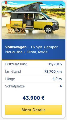 T6 Sylt-Camper Ausbau gelb