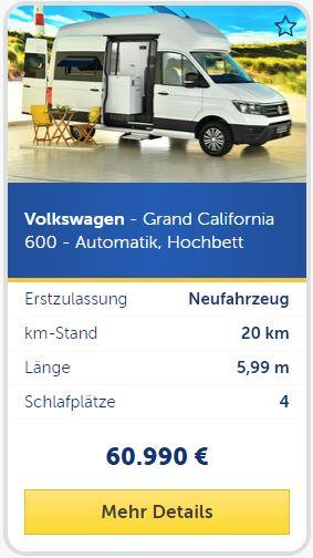 Volkswagen - Grand California 600 - Automatik, Hochbett kaufen