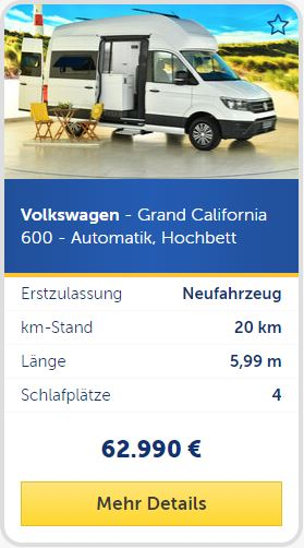 Volkswagen - Grand California 600 - Automatik, Hochbett