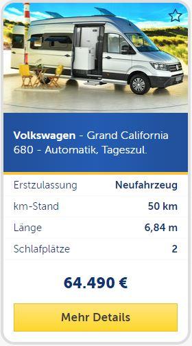 Volkswagen - Grand California 680 - Automatik, Tageszul. silber
